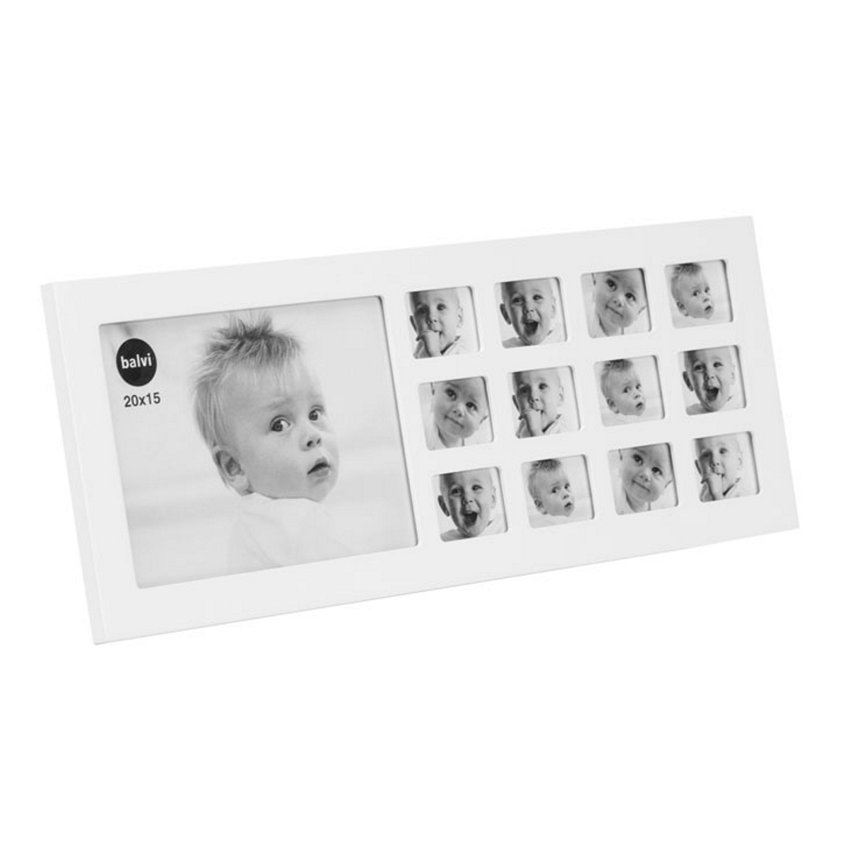 Balvi My First Year Photo Frame White