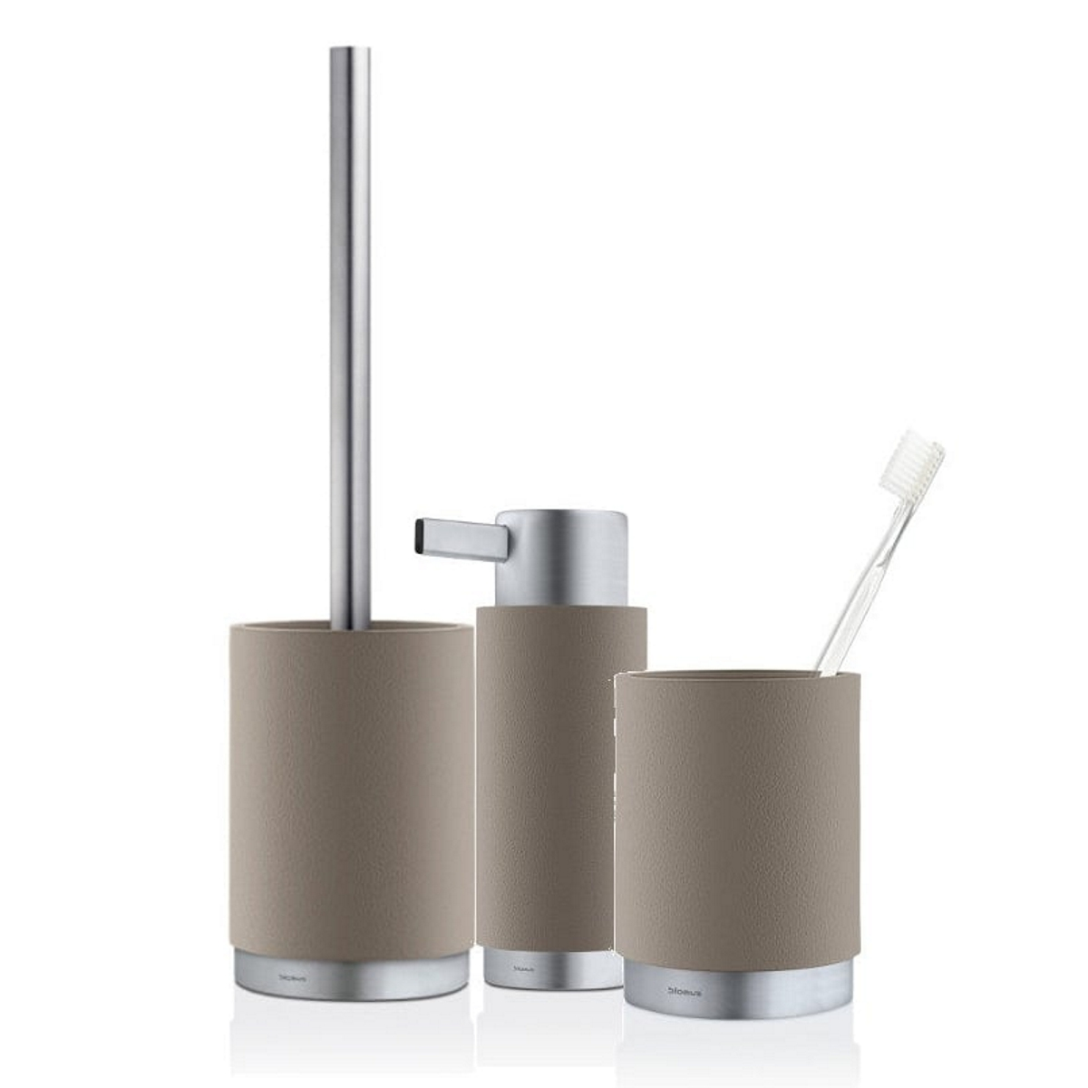 Blomus Ara Bathroom Set Taupe SET OF 3