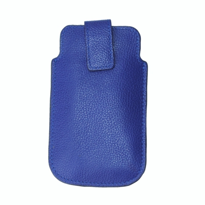 Byron & Brown Real Leather iPhone 3 4 & 5 Case 8.5cm x 14cm Blue