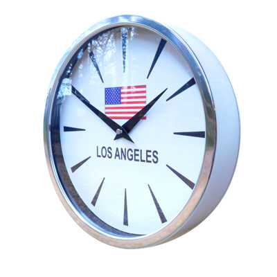 Chevron Flag Modern Classic Wall Clock  Polished 26cm (10) Dia