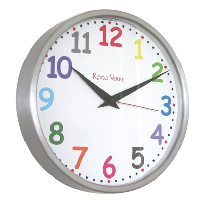 Roco Verre Colour Numbers Radio Control Clock 26cm