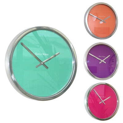 Roco Verre Polished Block Colour Clocks