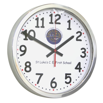 35cm Chunky Numbers Modern Classic School Clock