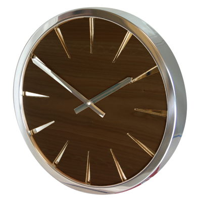 Roco Verre Walnut Empire Clock