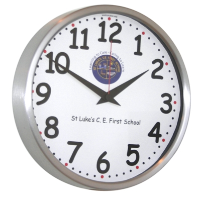 26cm Chunky Numbers Modern Classic School Clock