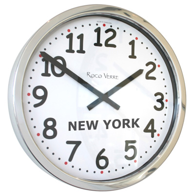 Roco Verre Custom Chunky Numbers Time Zone Clock