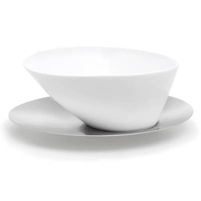 Blomus Stainless Steel and Ceramic Biscuit Bowl