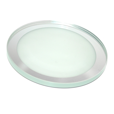 Roco Verre Eclipse Round Frosted Mirror Coasters