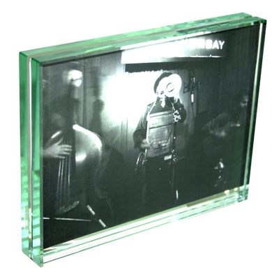 Roco Verre Classic Thick Glass Photo Frame 7x5 H