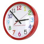 35cm Colour Comic Sans Modern Classic School Clock