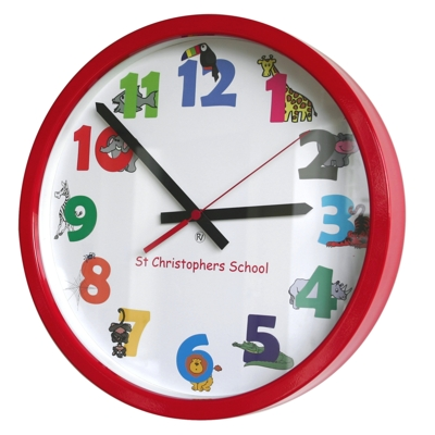 35cm Animal Numbers Modern Classic School Clock
