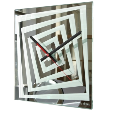 Roco Verre Illusion Mirror Clock