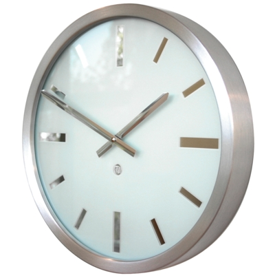 Roco Verre Swiss Empire Brushed Clock