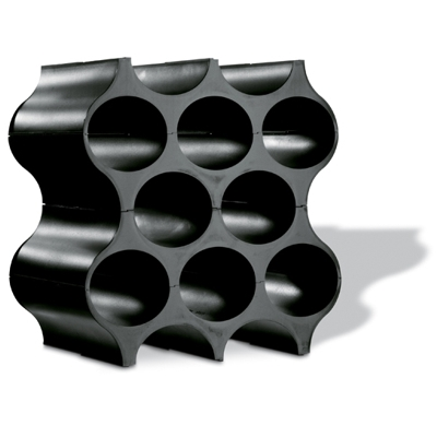Koziol Black Acrylic Wine Stacker