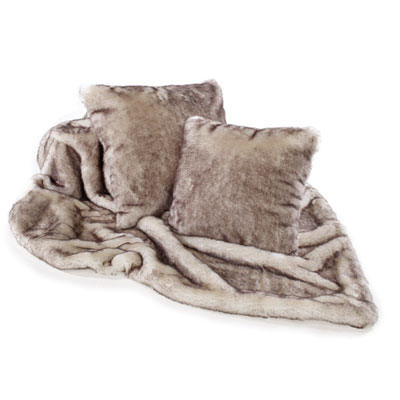 KATRINA HAMPTON FAUX FUR THROWS