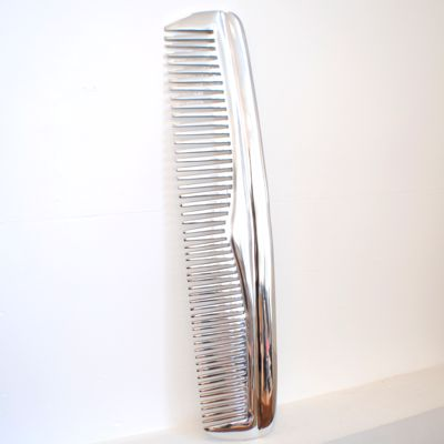 Giant Extra Large Chrome Comb Wall Hanging 16cm x 69cm x 1cm