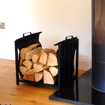 Vail Fireplace Log Holder and Log Carrier H50cm x W52cm x D37cm