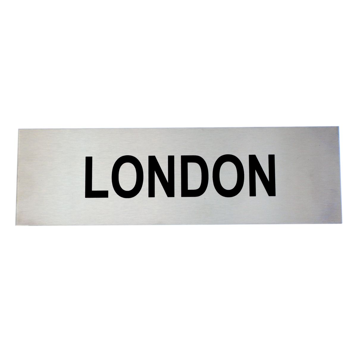 Custom Brushed Stainless Steel Sign 17cm x 4cm