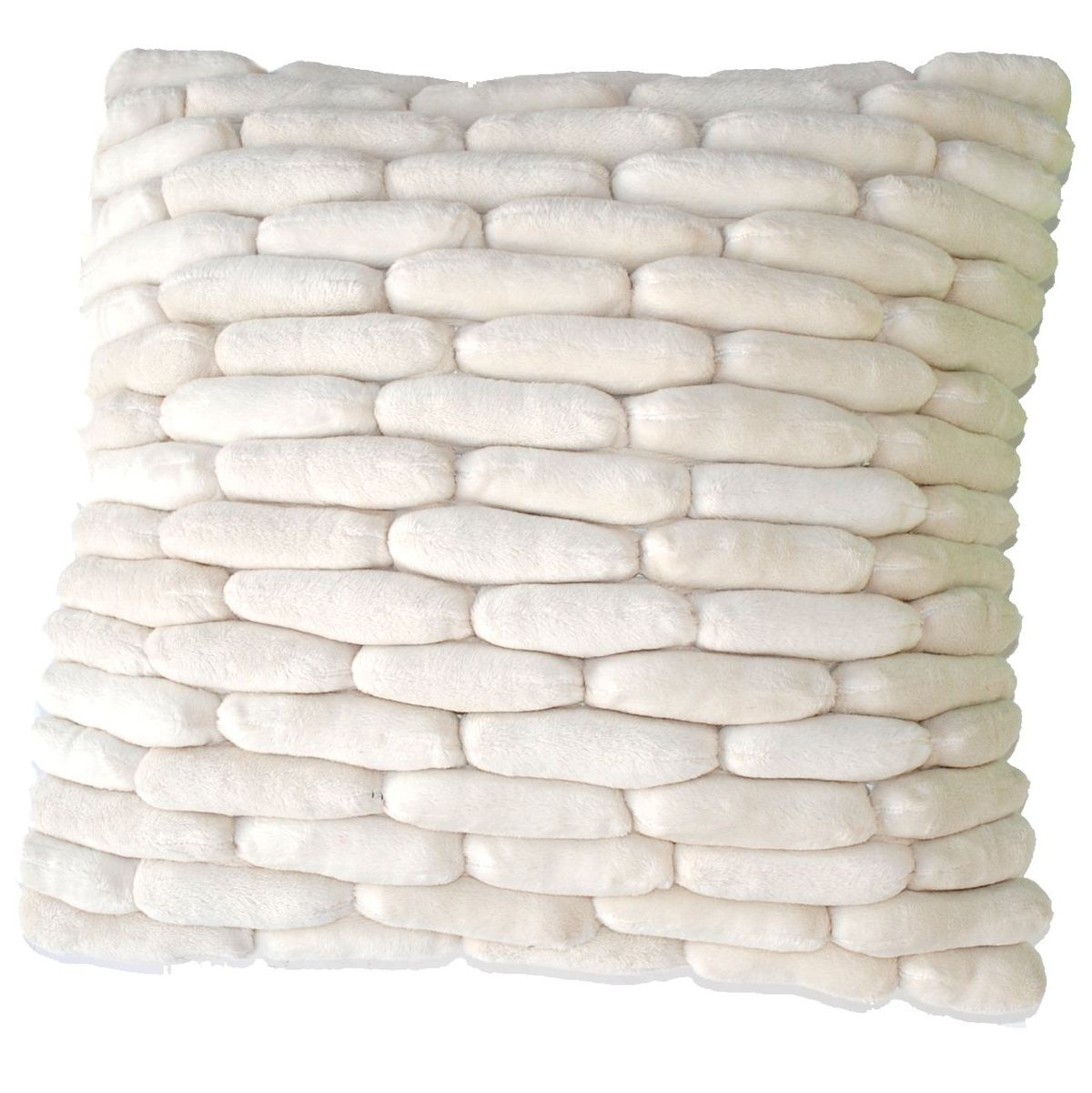 Dreamweavers Cobble Cushions All Colours Cream