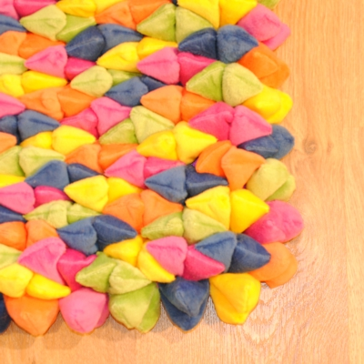Dreamweavers Multi Coloured Pebble Rug 210cm x 150cm (7ft x 5ft)