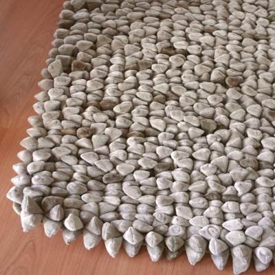 Dreamweavers Taupe Chamois Pebble Rug 180cm x 122cm (6ft x 4ft)