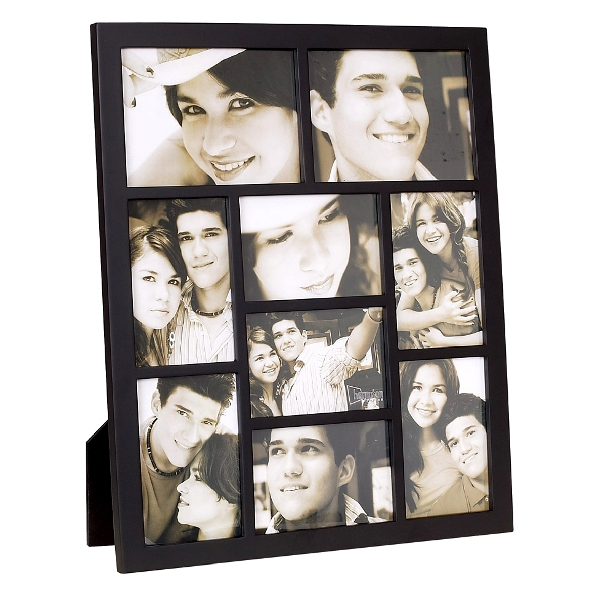 Gallery Black Nine Apperture Multi Frame H46cm x W38.5cm Photo Size Various