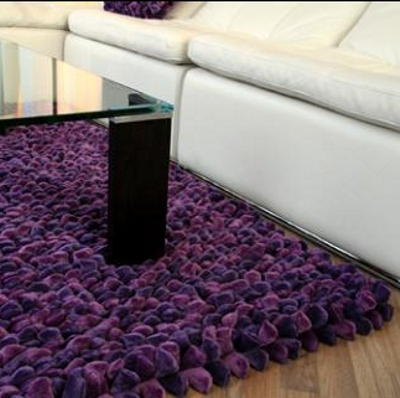 Grape Pebble Rug In Use