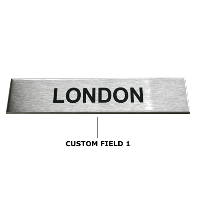Custom Brushed Sign Available In Our Custom Timezone Section