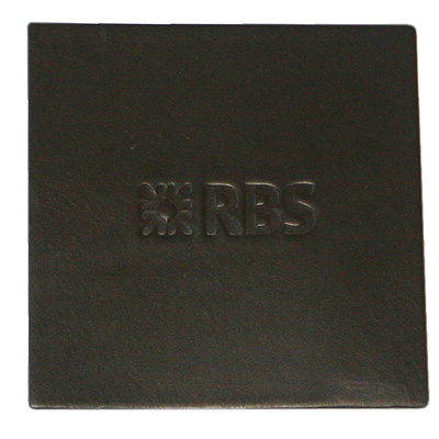 embossed brown square coaster