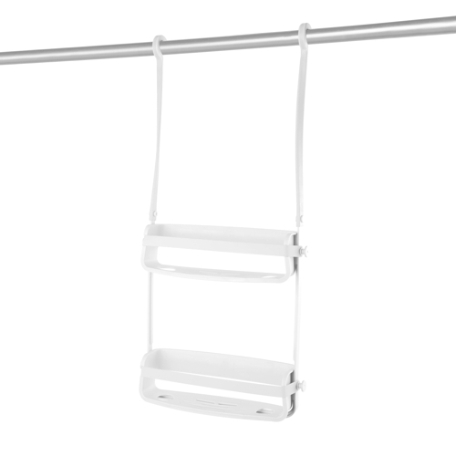 Umbra Flex 2 shelf Shower Caddy white