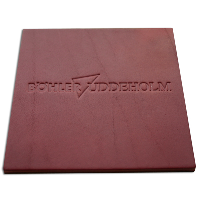 embossed leather coaster