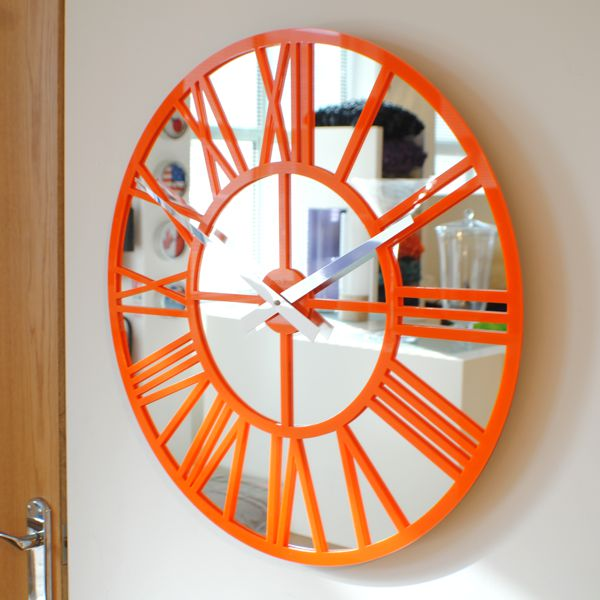 orange-gloss-skeleton-wall-clock