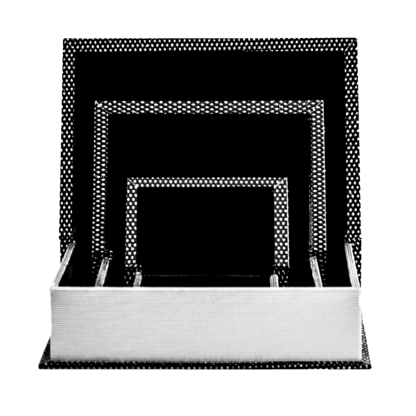 Open Black Glitter Book Box Set of 3