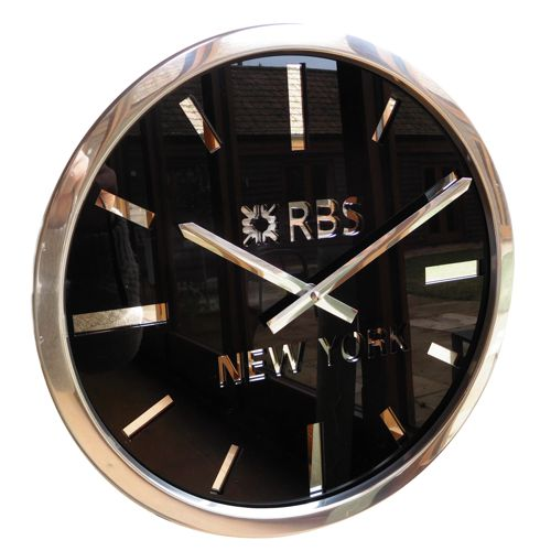 gloss black time zone clock