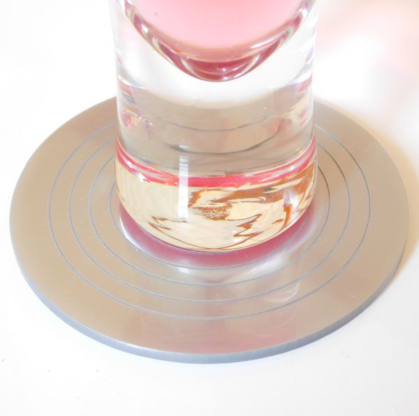 silver Gloss Circlets Coasters And Placemats