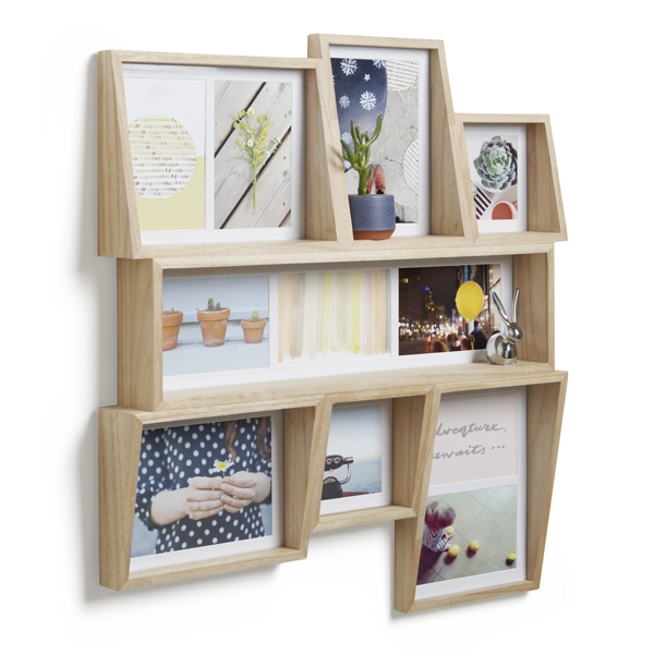 Umbra Edge Multi Photo Wall Display Natural