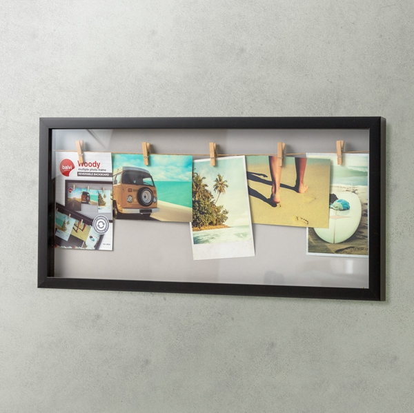 Balvi Woody Multiple 5 Photo Frame Black