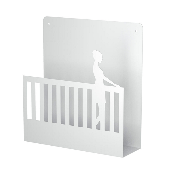 Wall Magazine Rack White