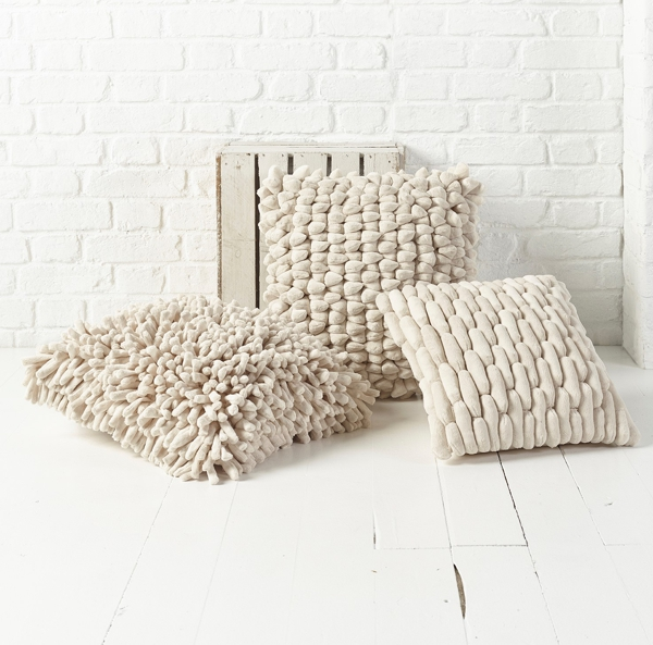 cream white pebble cushion
