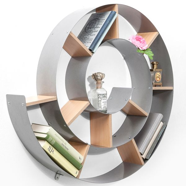 Kare Snail Wall Shelf Silver