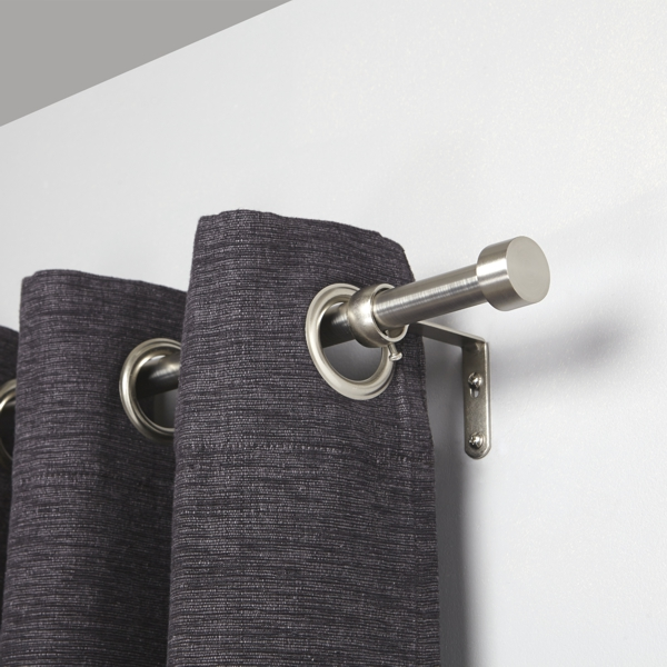Umbra Cappa Curtain Pole Brushed Nickel Close Up