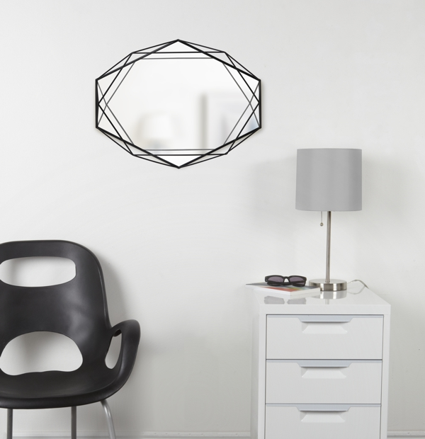 Umbra Prisma Wall Mirror Black In Situ
