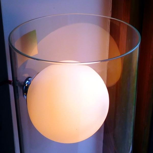 "Glass Tube with ""Floating Light Ball"" Table Lamp"