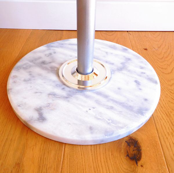 White and grey marble base hat and coat stand