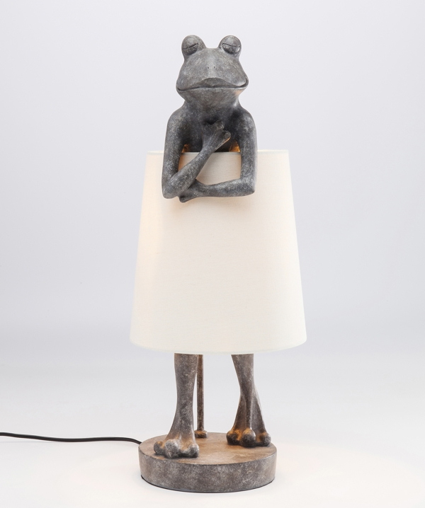 Frog Table Lamp With White Shade UK