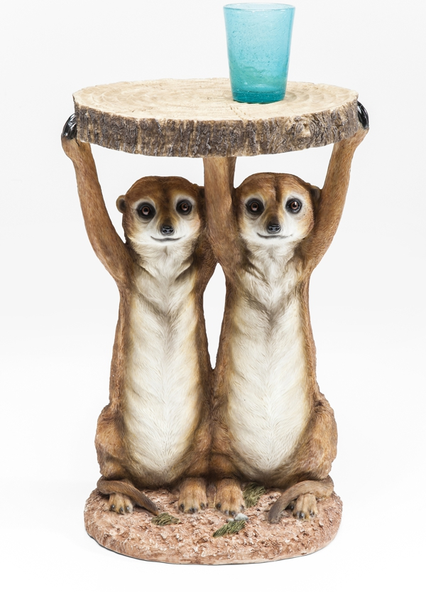 Meerkat Sisters Side Table