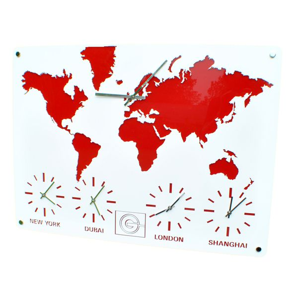 time zone map clock