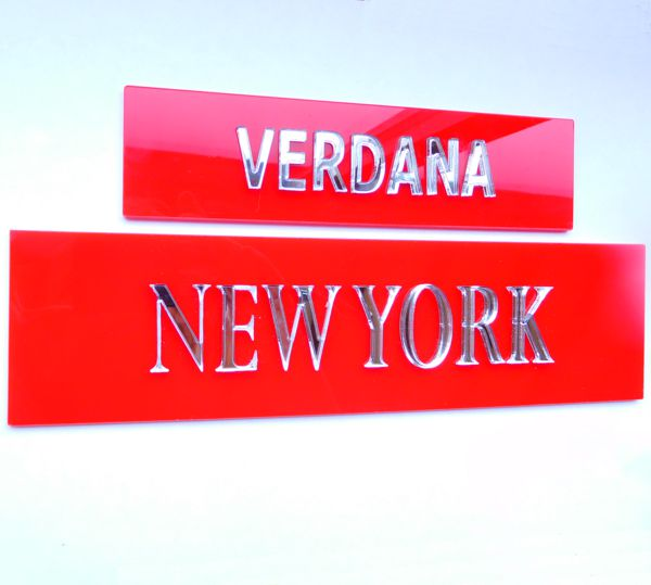 red signs Personalised Time Zone Sign Plaques