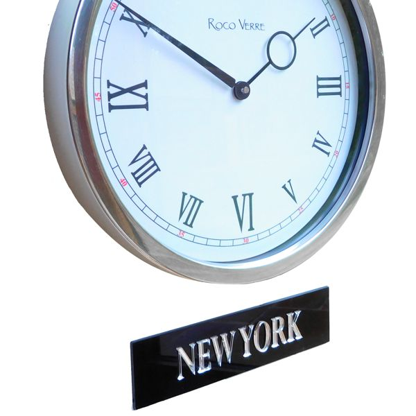 clock and Personalised Time Zone Sign Plaques