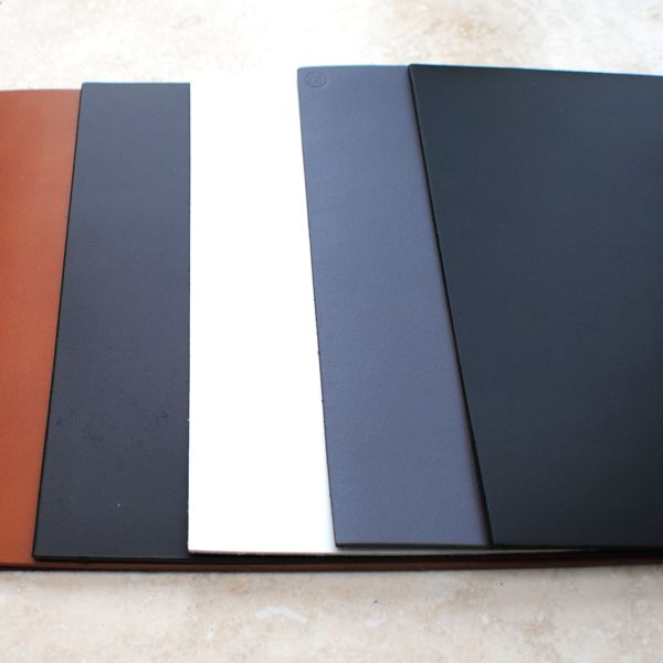 all colours leather coasters